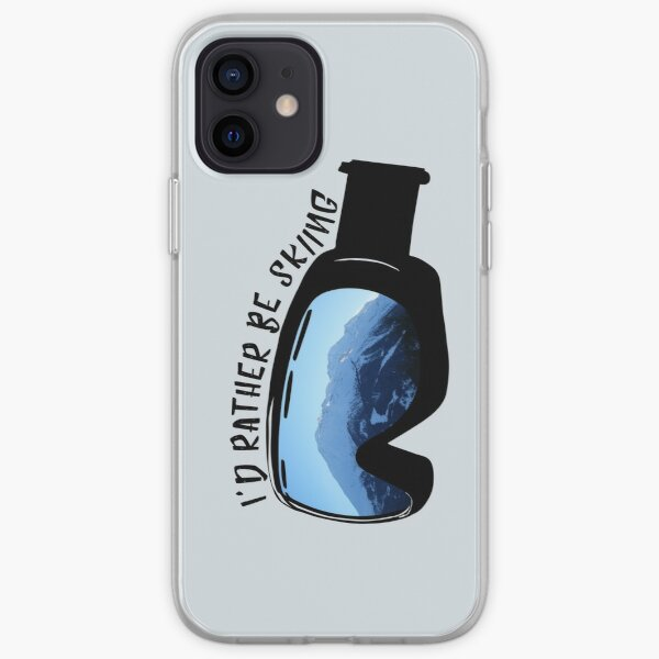 I'd Rather Be Skiing - Goggles iPhone Soft Case