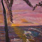 Big Island Sunset  acylic on canvas20x36 by eoconnor