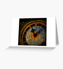 Talinn Clockface Greeting Card