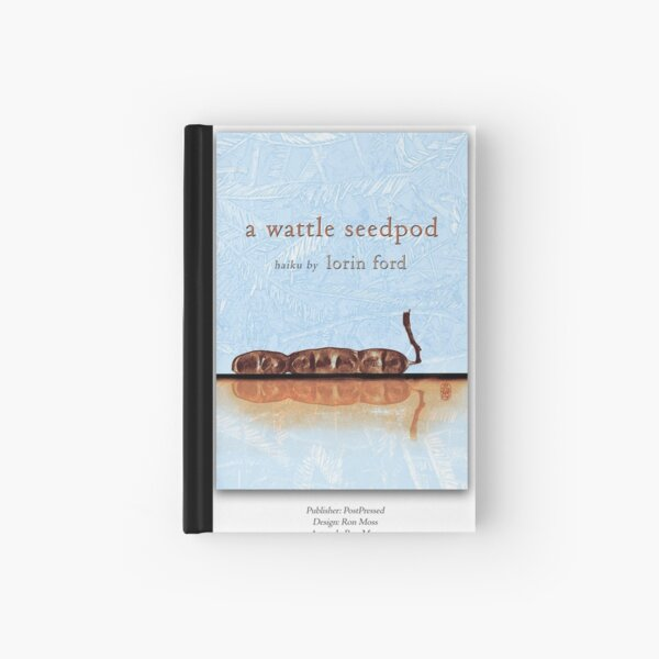 a wattle seedpod Hardcover Journal