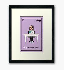La Diseñador Grafica Framed Print