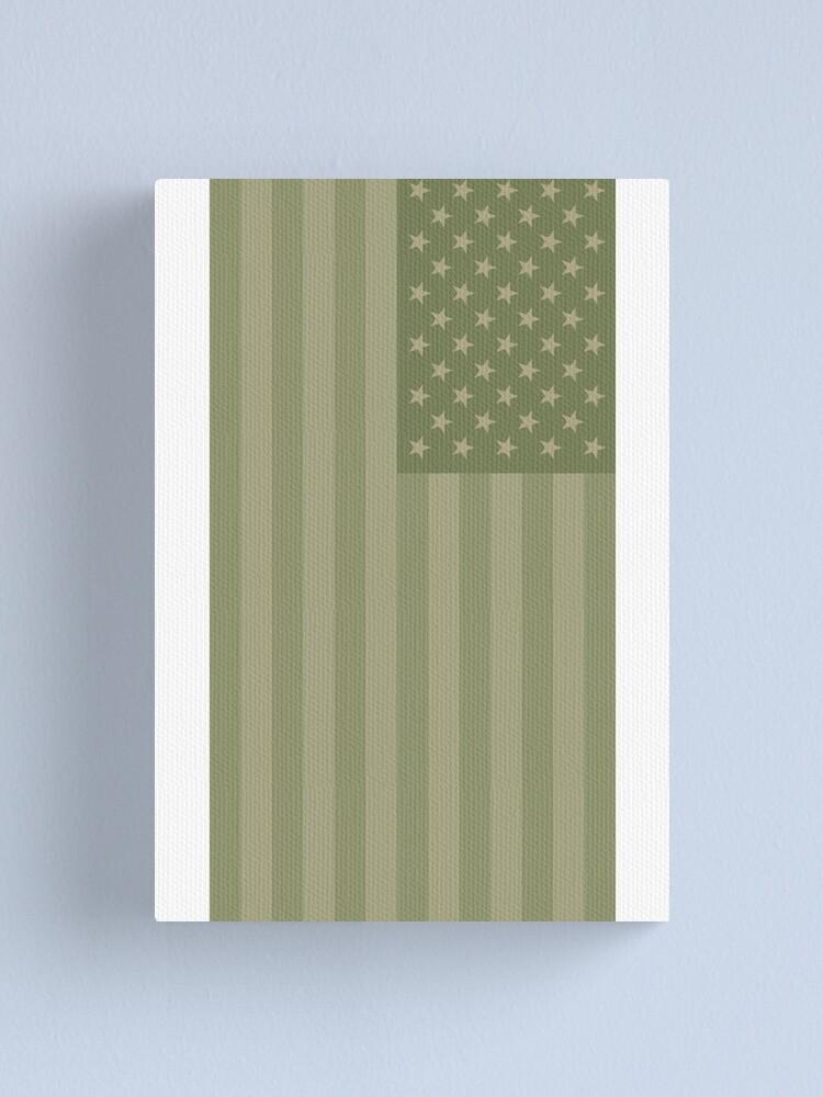 Alternative Ansicht von Camo Sternenbanner - USA Flagge militärische Camouflage Farben Leinwanddruck