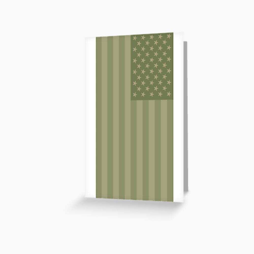 Camo Sternenbanner - USA Flagge militärische Camouflage Farben Grußkarte