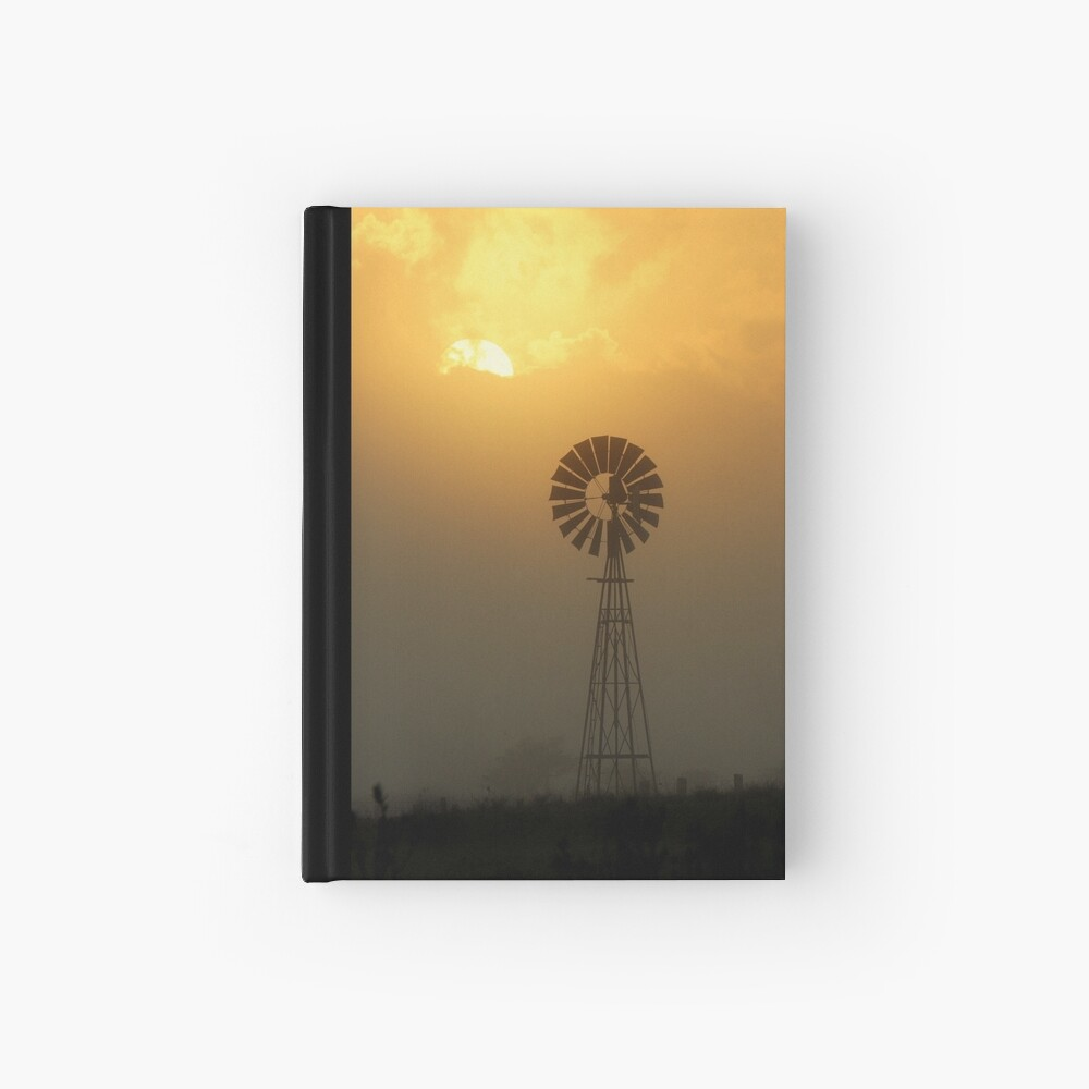 Windmill Sunrise Hardcover Journal