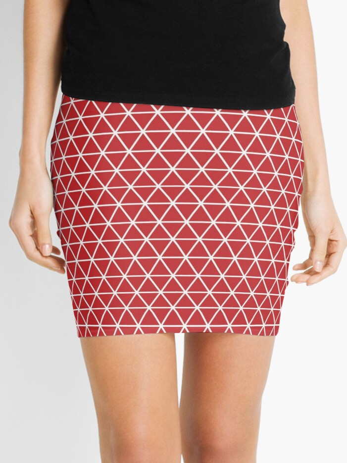 Abstract Seamless Background Design Texture With Triangle Elements Mini Skirt By Asnia Redbubble
