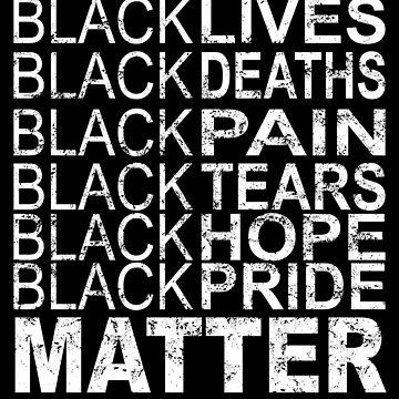 Black Lives Death Pain Tears Hope Pride Matter Grunge Shirt by SamDesigner