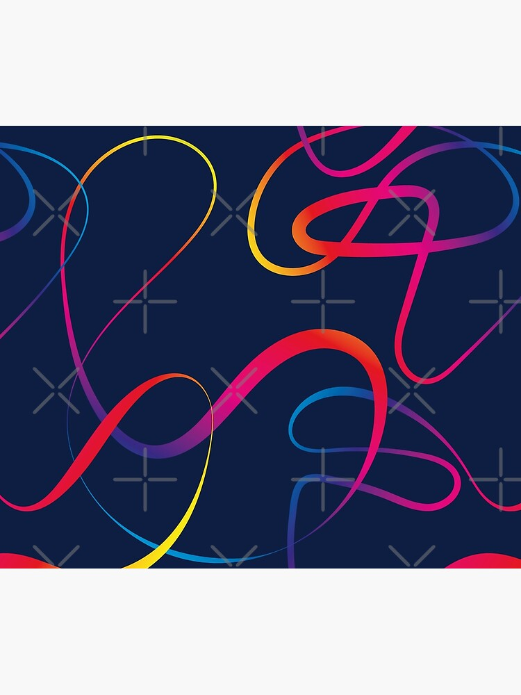 Abstract elegant lines in rainbow colors by nobelbunt