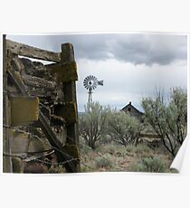Rock Crib and Abandoned Homestead Poster