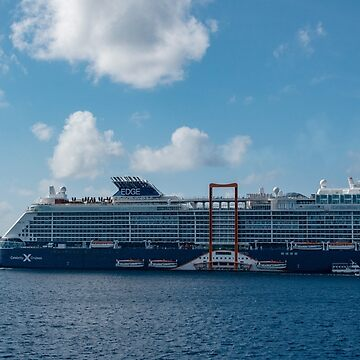 The Celebrity Edge and the Holland America Veendam off Grand Cayman by gerdagrice