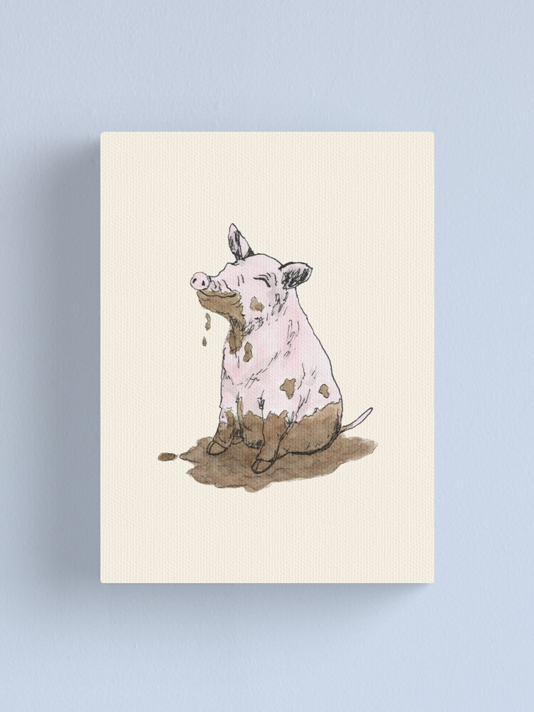 Alternate view of Filthy Pig Canvas Print
