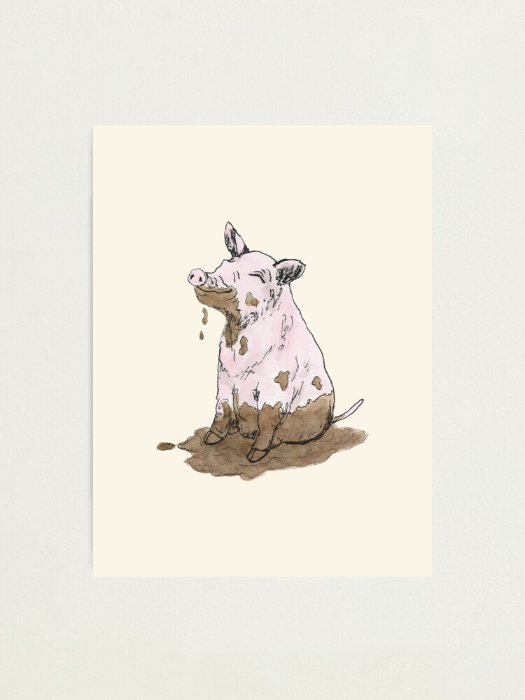 Alternate view of Filthy Pig Photographic Print
