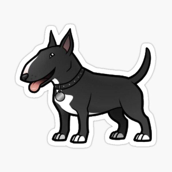 Bull Terrier Dog Animals Pets Wall Sticker WS-17602