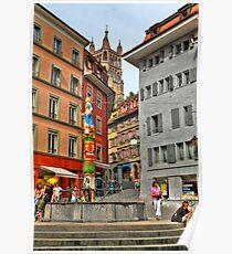 Picturesque square Poster