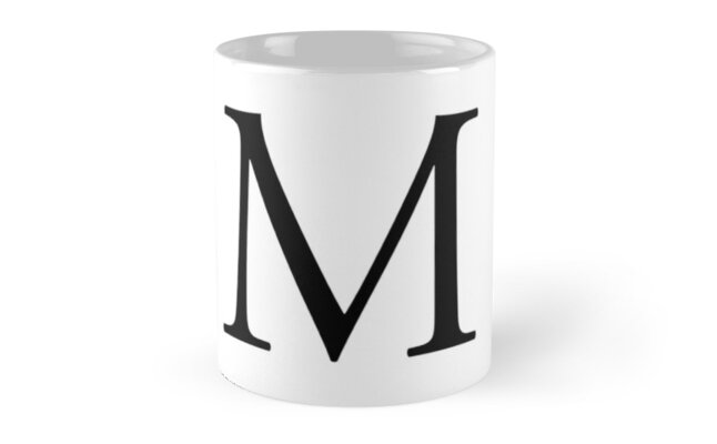 m alphabet letter mike michael mary a to z 13th letter of alphabet initial name letters tag nick name mugs