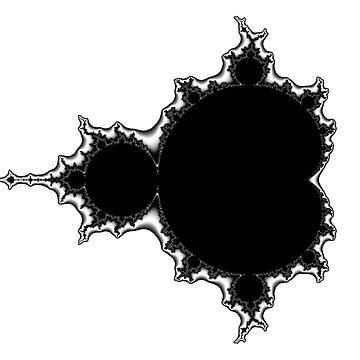 Monochrome Mandelbrot 002 by rupertrussell