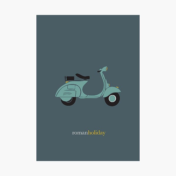 Roman Holiday - Alternative Movie Poster Photographic Print