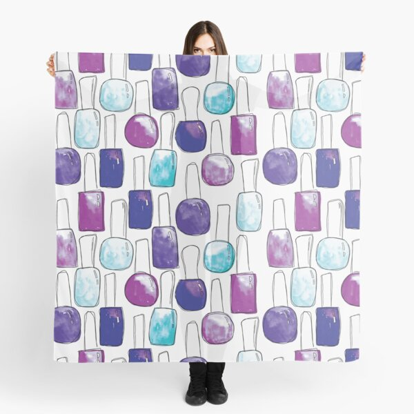 Nail Polish | Blue and Purple Pattern Scarf
