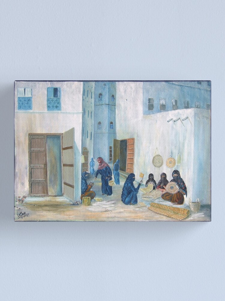Alternate view of Symbols on the wall (4) - mural in old Al Mukalla Canvas Print