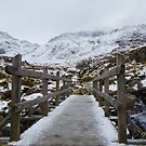Icy bridge Snowdonia by graceloves