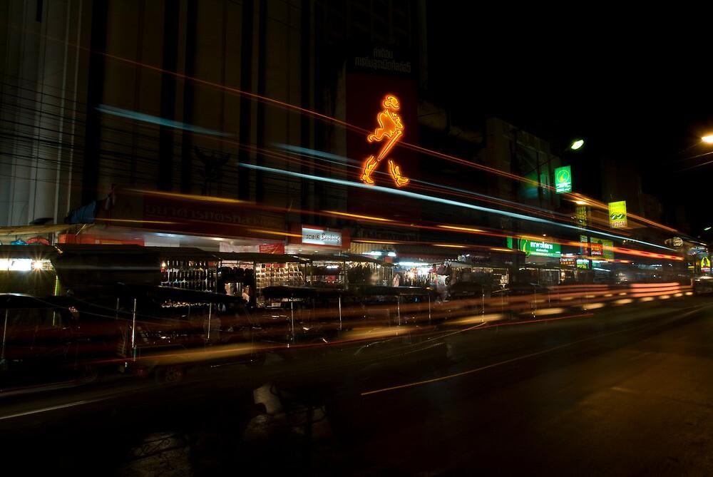 Chiang Mai Night Lights by JerryNelson