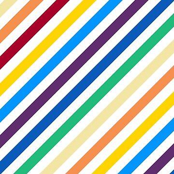 Rainbow Stripes by Gravityx9
