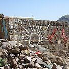 Symbols on the wall (14) - a wall near Manakhah by Marjolein Katsma