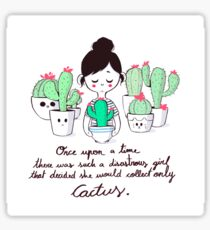 The Cactus Girl Sticker