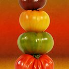 Tower of Colorful Tomatoes by DebiDalio