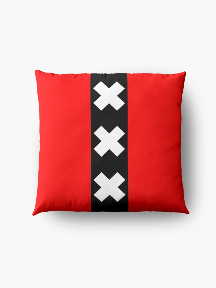 Alternate view of Amsterdam Flag 3 X's Floor Pillow