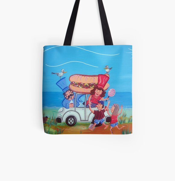 Beach All Over Print Tote Bag