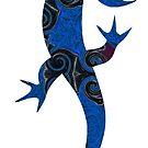 Groovy Blue Lizard by MagickMama