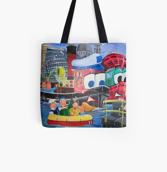 Tuffy and Portwey All Over Print Tote Bag