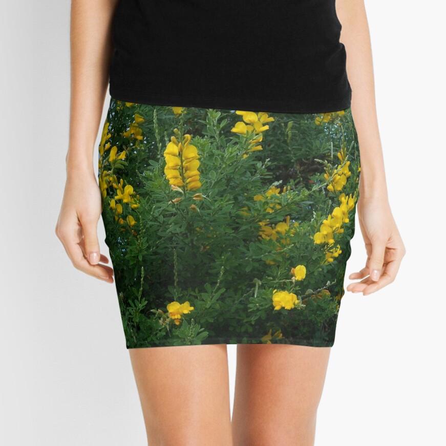 Goldene Blüten Minirock