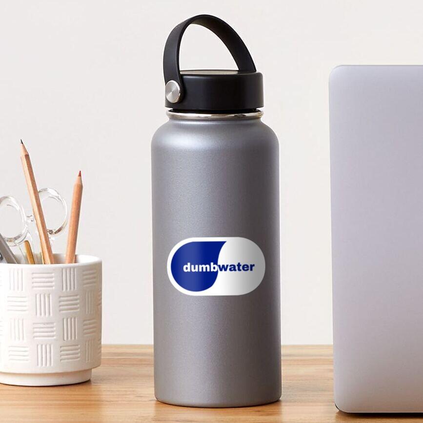dumb water smart water logo Sticker