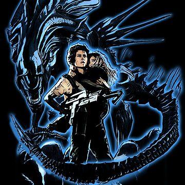 Ripley vs Alien Queen by JTK667