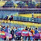Win Place Show - Horse Racing Abstract by CJ Anderson