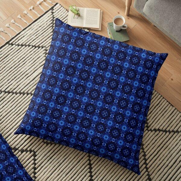Blue Tile 1 Floor Pillow