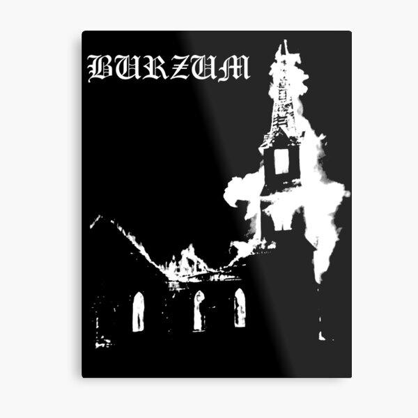 Burning Church Metal Print