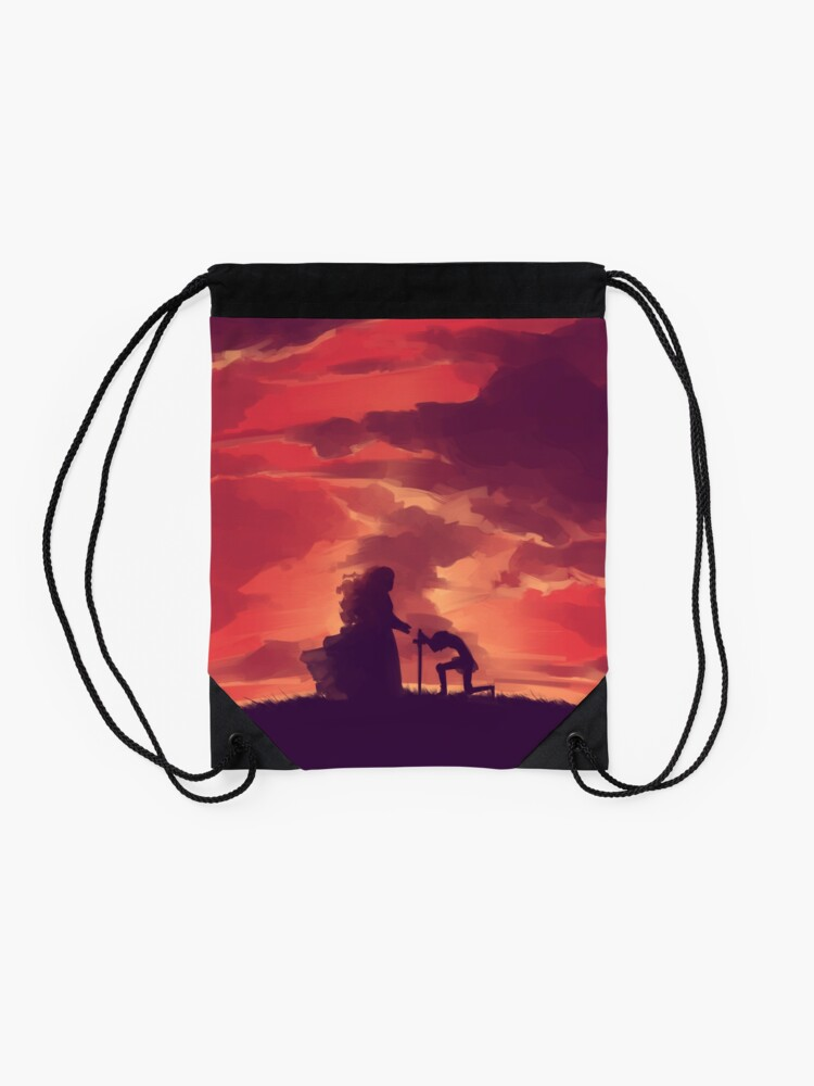 Alternate view of Through Your Eyes (Part 1) Drawstring Bag