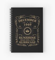 December 1949 Sunshine Mixed With A Little Hurricane Spiral Notebook