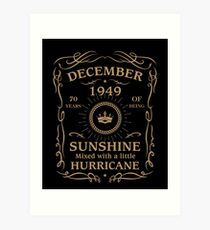 December 1949 Sunshine Mixed With A Little Hurricane Art Print