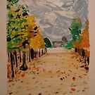 Fall in Paris Print 1 of 2  by Caroline  Hajjar Duggan