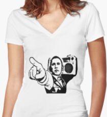 U got the beat Women's Fitted V-Neck T-Shirt