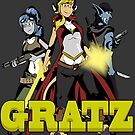 Gratz webcomic adventure trio by Jnebeker92