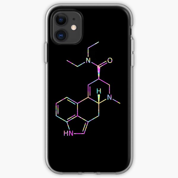 LSD Molecule (Psychedelic) iPhone Soft Case