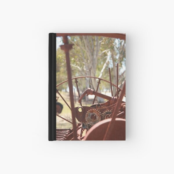 Rusting farm equipment Hardcover Journal