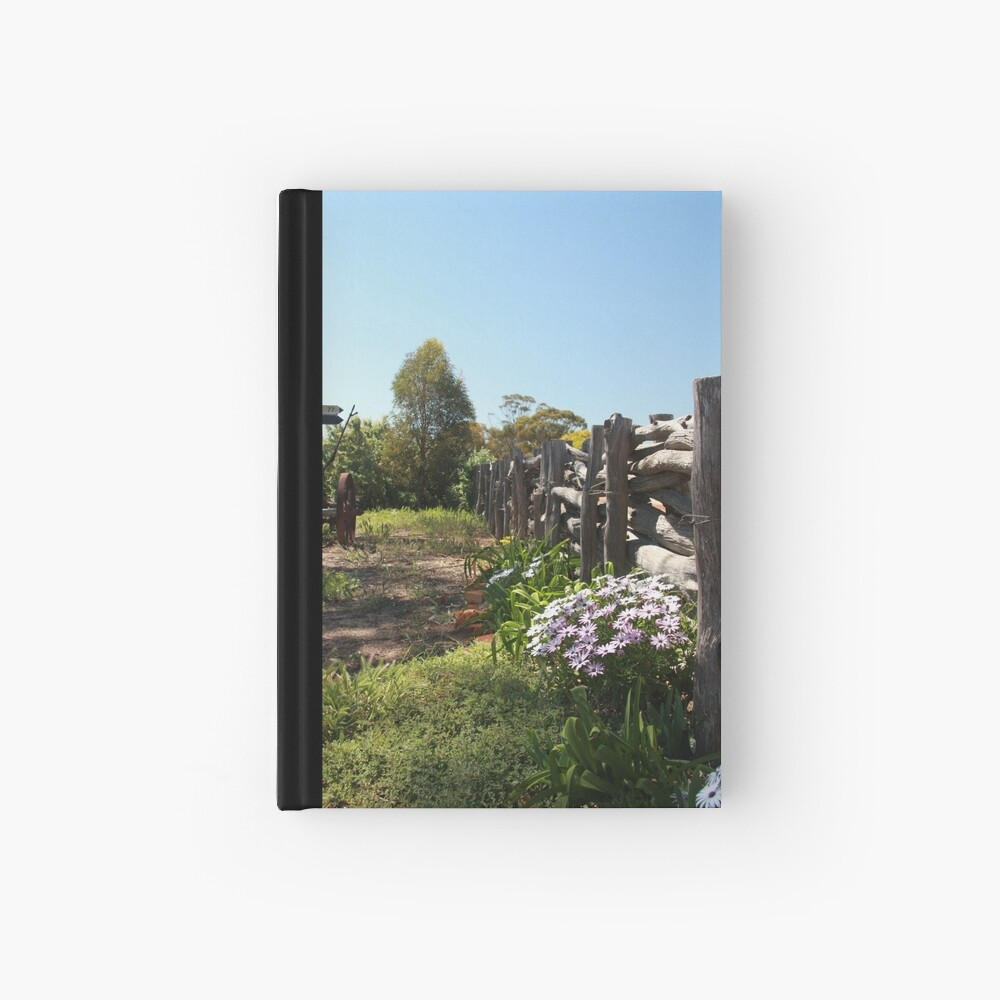 Flowers by the fence Hardcover Journal