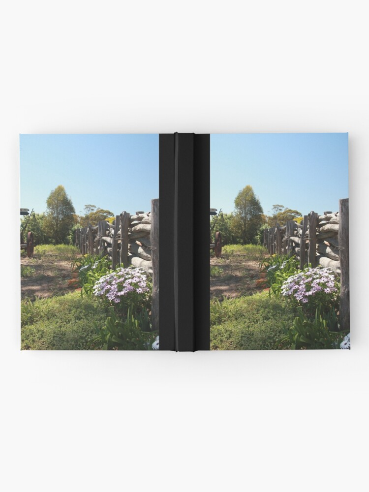 Alternate view of Flowers by the fence Hardcover Journal
