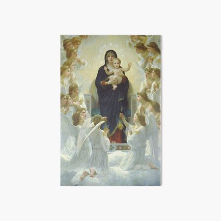 Our Lady Virgin Mary and Angels  Art Board Print