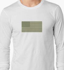 Camo Sternenbanner - USA Flagge militärische Camouflage Farben Langarmshirt